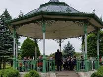 Playing at the Bandstand